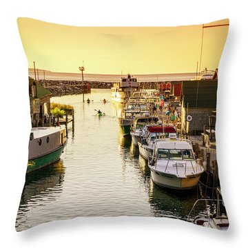 Throw Pillow featuring the photograph Fishtown by Alexey Stiop