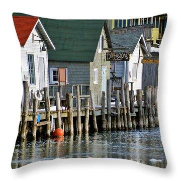 Fishtown In Leland Throw Pillow