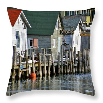Throw Pillow featuring the photograph Fishtown In Leland by SimplyCMB