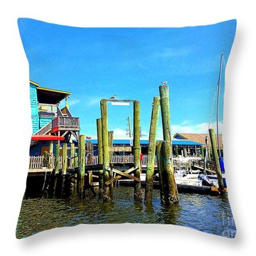 Fishy Fishy Waterside Throw Pillow