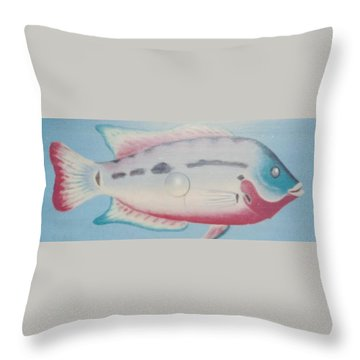 Fishy In Ocean Throw Pillow