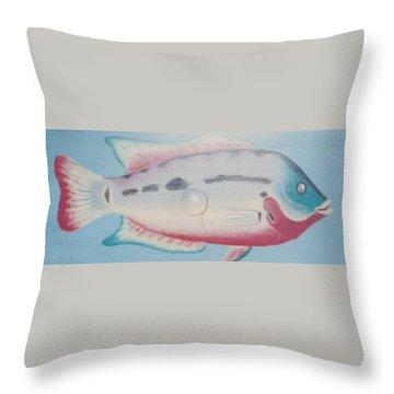 Fishy In Ocean Throw Pillow