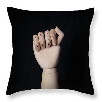 Throw Pillow featuring the photograph Fist by Edward Fielding