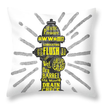 Fit To Fight Throw Pillow