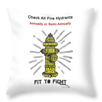 Fit To Fight Throw Pillow by Megan Dirsa-DuBois
