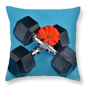 Fitness By Daisy Throw Pillow