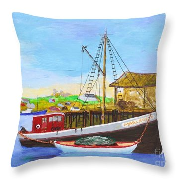 Fitting Out For Seining Throw Pillow by Bill Hubbard