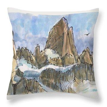 Fitz Roy, Patagonia Throw Pillow