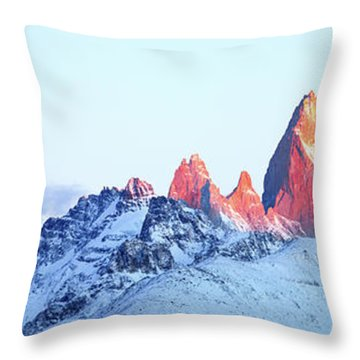 Fitz Roy Peak Throw Pillow