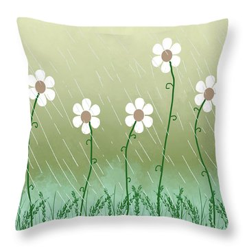 Five Days Of Daisies Throw Pillow
