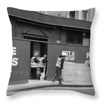Five Guys Throw Pillow