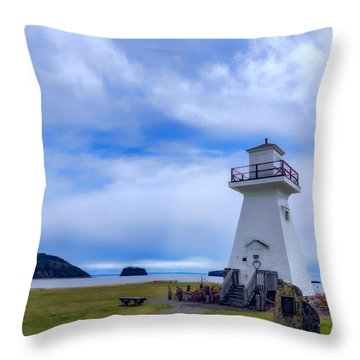 Five Islands Lighthouse Throw Pillow