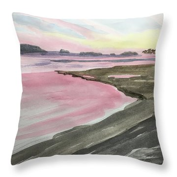 Five Islands - Watercolor Sketch  Throw Pillow