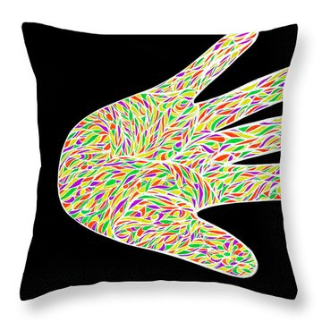 Throw Pillow featuring the drawing Stop Bulling Live As One by Jamie Lynn
