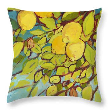 Five Lemons Throw Pillow