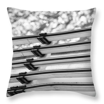 Throw Pillow featuring the photograph Five Lines Over The Deep by Christi Kraft