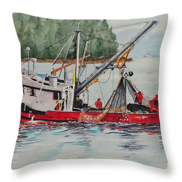 Five Miles Out Of Valdez Throw Pillow