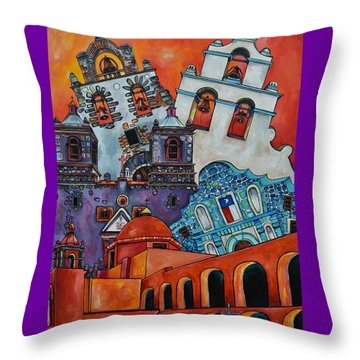 Five Missions Throw Pillow