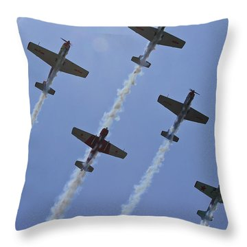Throw Pillow featuring the photograph Five Out Of Six by Miroslava Jurcik