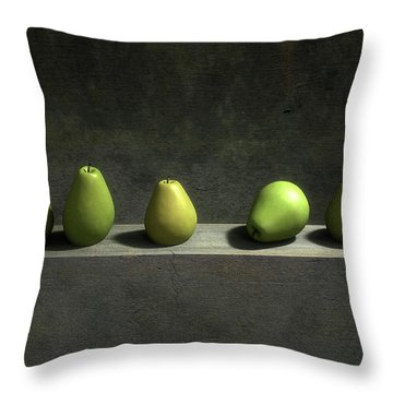 Five Pears Throw Pillow