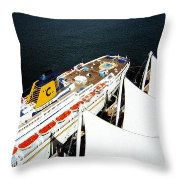 Five Sails And A Ship Throw Pillow by Will Borden