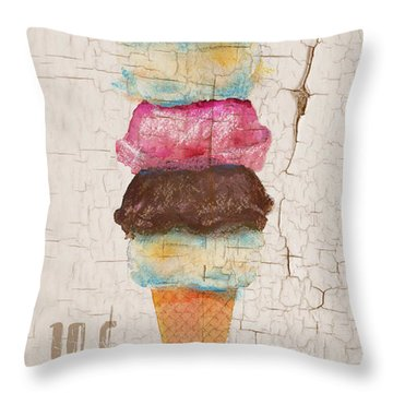 Five Scoops Throw Pillow