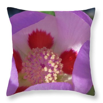 Throw Pillow featuring the photograph Five-spot by Michele Penner