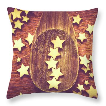 Five Stars Quality Food Service  Throw Pillow