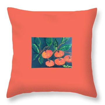 Five Tangerines Throw Pillow