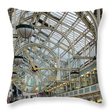 Five To Three - At St. Stephens Green Shopping Centre In Dublin Throw Pillow