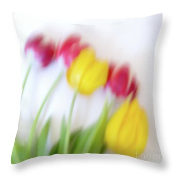 Five Tulips Throw Pillow