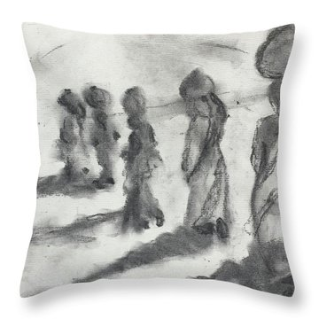 Five Women Immigrants Throw Pillow