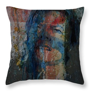 Throw Pillow featuring the painting Five Years by Paul Lovering