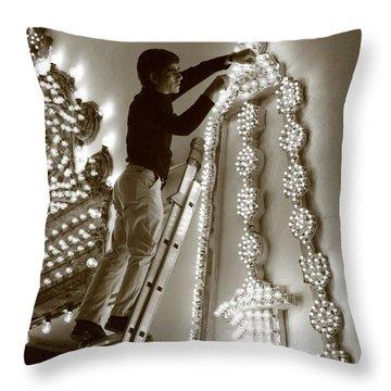 Fixing A Glitch Throw Pillow by Gaspar Avila