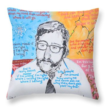 Fixing A Hole Throw Pillow