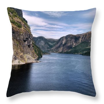 Fjord Throw Pillow by Jim Hill