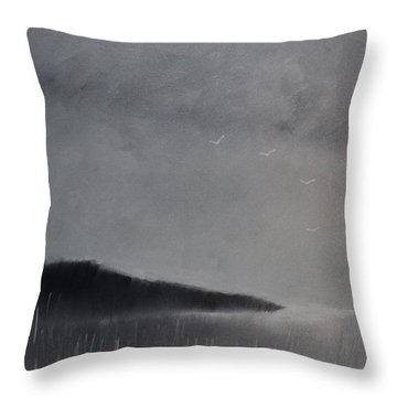 Fjord Landscape Throw Pillow