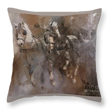 Fjords On The Run Throw Pillow