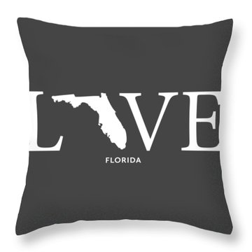 Throw Pillow featuring the mixed media Fl Love by Nancy Ingersoll