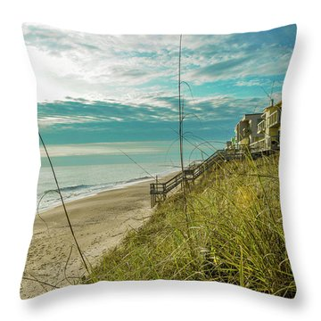 St Aug Beach Throw Pillow