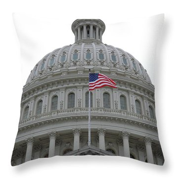 Flag And Dome Throw Pillow