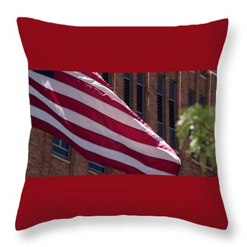Flag Courtship Throw Pillow