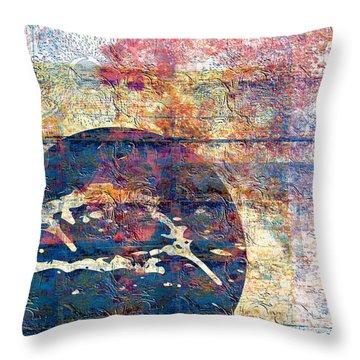 Throw Pillow featuring the digital art Flag by Gabrielle Schertz