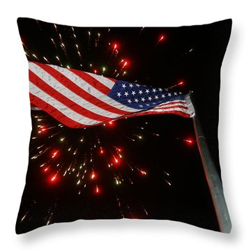 Flag In All Its Fiery Glory Throw Pillow