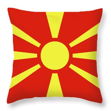 Throw Pillow featuring the digital art Flag Of Macedonia by Bruce Stanfield