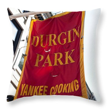 Flag Of The Historic Durgin Park Restaurant Throw Pillow