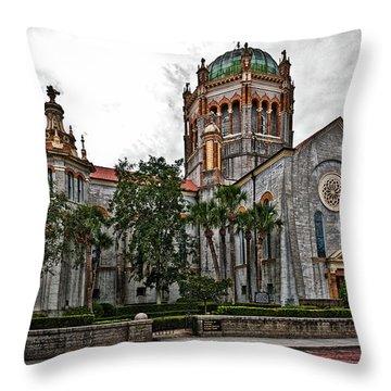 Flagler Memorial Presbyterian Church 2 Throw Pillow by Christopher Holmes