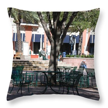 Flagler Park Throw Pillow by Rob Hans