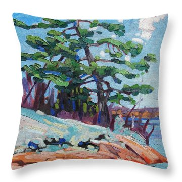 Flags And Contrails Throw Pillow