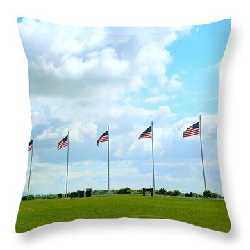 Flags At Miramar Throw Pillow